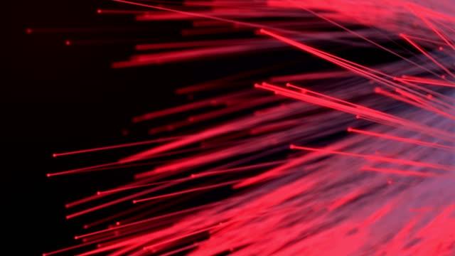 astract rote linien, futuristische cyber-welt - chaos stock-videos und b-roll-filmmaterial