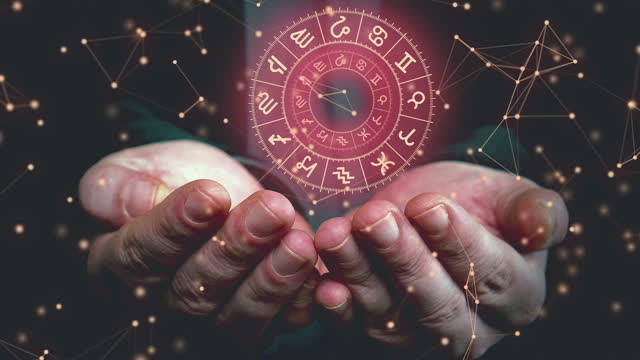 astrology chart - astrology stock videos & royalty-free footage