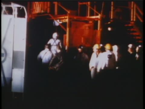 astronaut alan shepard about to take off for space flight freedom 7 suborbital ext night alan shepard walking towards space capsule. ext night shot... - alan b. shepard jr stock videos & royalty-free footage
