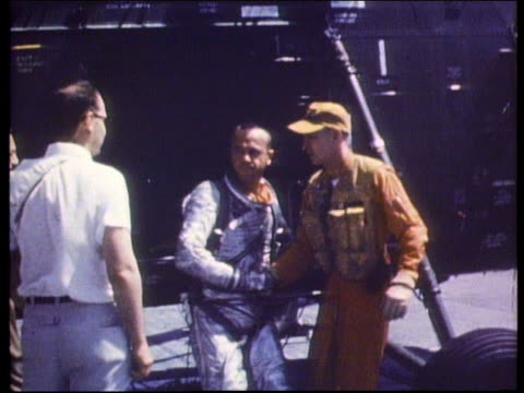 astronaut alan shepard getting off helicopter after splashdown - 1961 stock videos & royalty-free footage