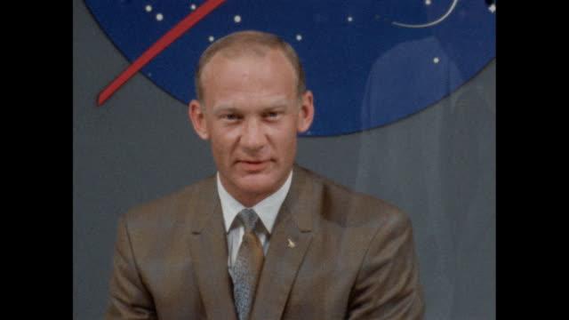 "astronaut buzz aldrin explains the origin of his nickname ""buzz"". - 1960 1969 stock videos & royalty-free footage"
