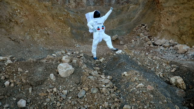 Astronaut conquering Mars