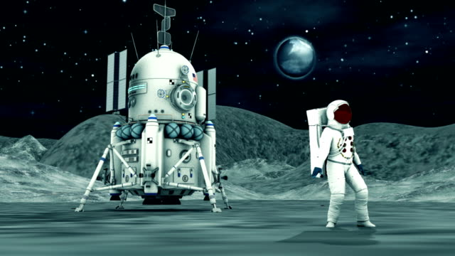 astronaut dancing on the moon - astronaut stock videos & royalty-free footage
