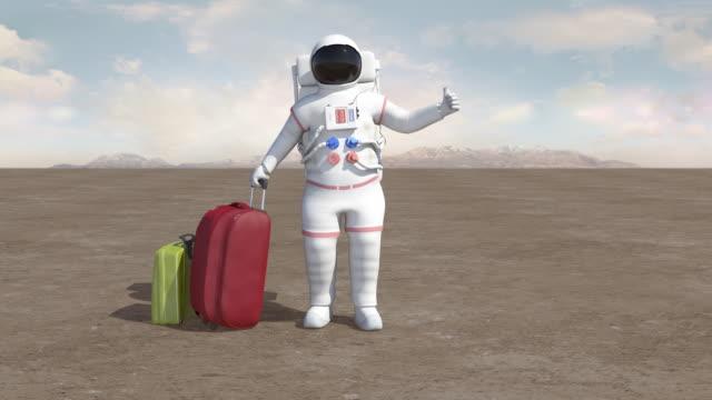 宇宙飛行士ハイジャック - 宇宙飛行士点の映像素材/bロール