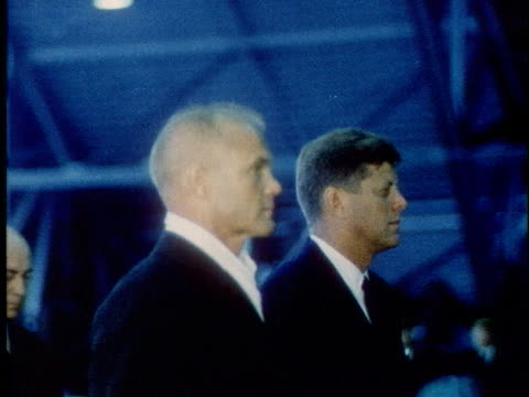 astronaut john glenn and u.s. president john f. kennedy visit cape canaveral, florida. - 1962 stock videos & royalty-free footage