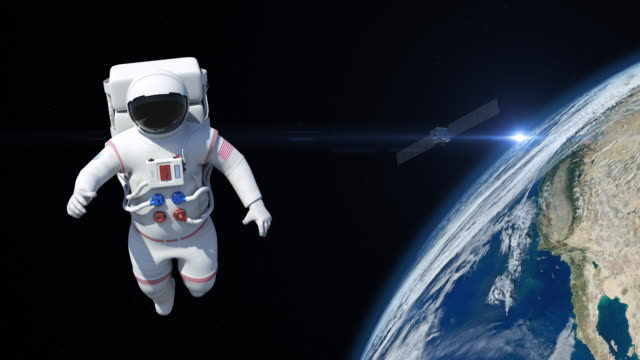 astronaut on spacewalk - copy space stock videos & royalty-free footage