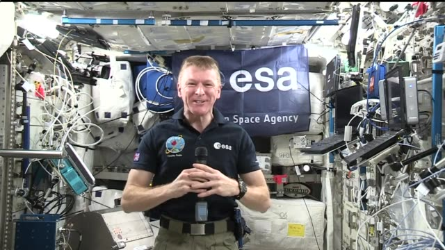 astronaut tim peake interview; peake interview sot - hope i'm not the last uk astronaut to fly in space / on what food he has craved in space - astronaut stock videos & royalty-free footage