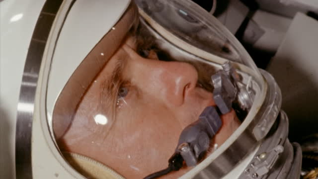 astronaut training in the mercury capsule simulator. digitally remastered nasa footage. - space exploration stock videos & royalty-free footage
