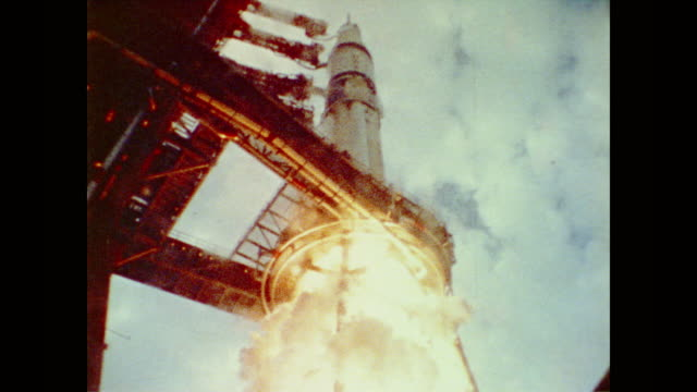 vídeos de stock, filmes e b-roll de astronauts charles c. conrad jr., paul j. weitz, joseph kerwin return to earth 28 days after initial launch before skylab 2 astronauts alan l. bean,... - 1973