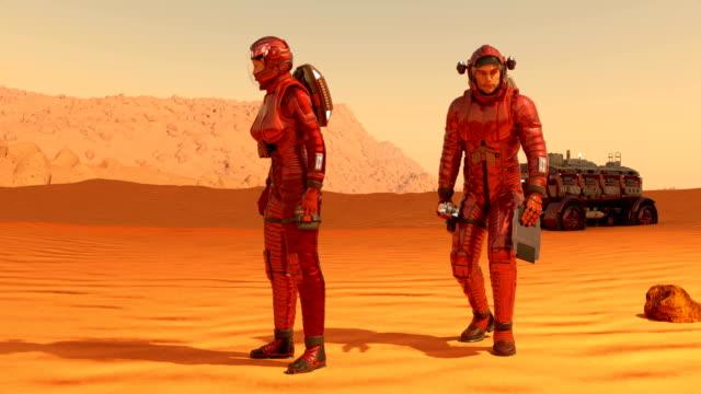 astronauts on mars - alien stock videos & royalty-free footage