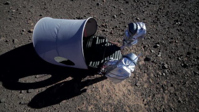 Astronauts training for a Mars mission