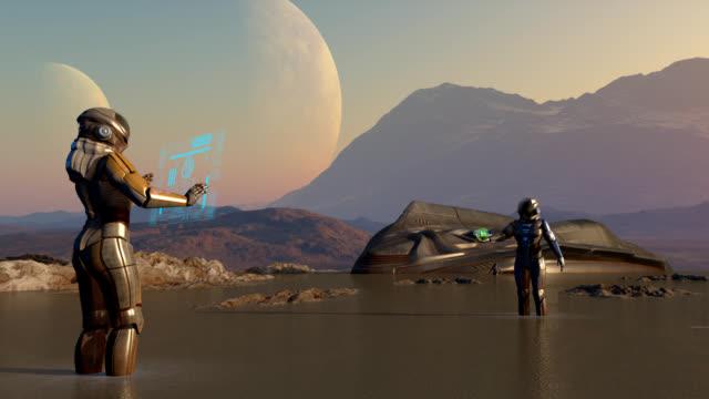 astronautas - planeta点の映像素材/bロール