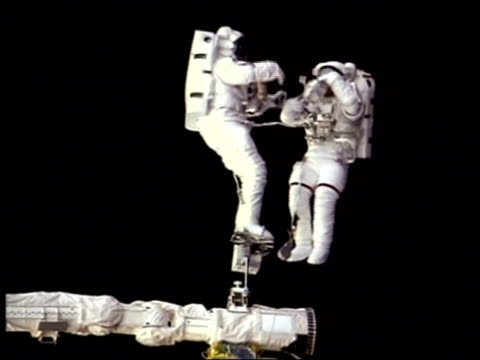 ms astronauts working in outer space, nasa - astronaut stock videos & royalty-free footage