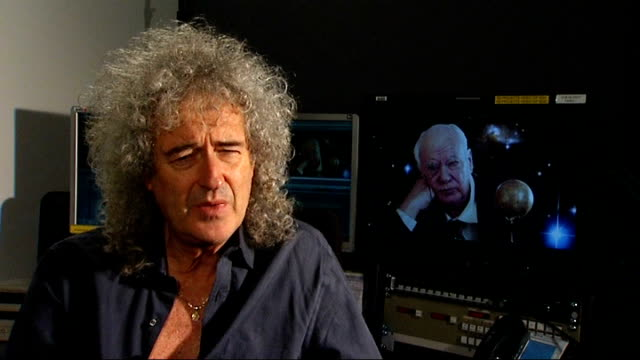 Astronomer Sir Patrick Moore dies INT Brian May interview SOT