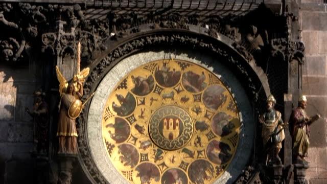astronomical clock, prague (hd) - stare mesto stock videos & royalty-free footage