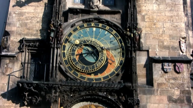 astronomical clock, prague (hd) - prague old town square stock videos & royalty-free footage