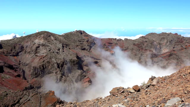 astronomical observatories, la palma - time lapse - rock face stock videos and b-roll footage