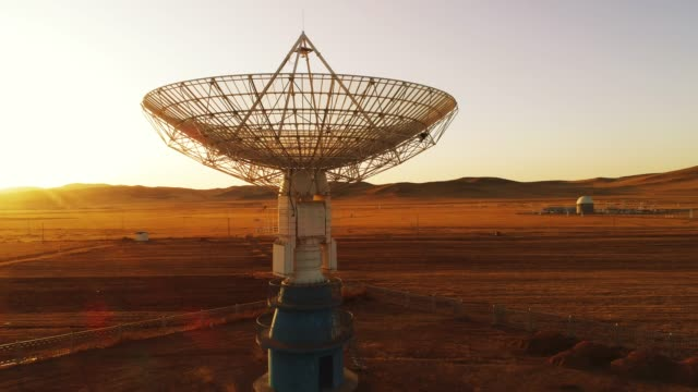 astronomical telescope station - radar stock videos & royalty-free footage