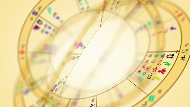astronomy\astrology sign\zodiac wheel - animal colour stock videos & royalty-free footage