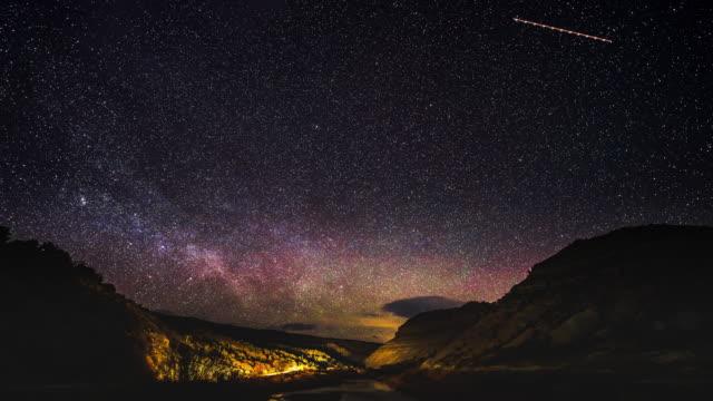 天体写真風景タイムラプス - 北極星点の映像素材/bロール