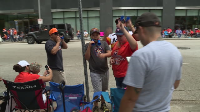 astros fans come out to celebrate the city's first world series title. - baseball world series stock videos & royalty-free footage