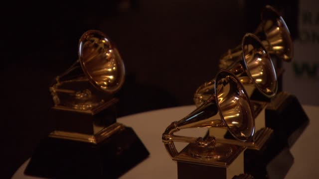 at 56th annual grammy awards - press room at staples center on in los angeles, california. - atmosphere stock videos & royalty-free footage