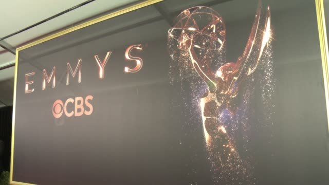 at 69th annual primetime emmy awards in los angeles, ca 9/17/17 - emmy awards stock-videos und b-roll-filmmaterial