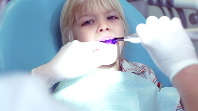at a dentists - boy medical exam stock videos and b-roll footage