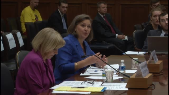 at a hearing of the house foreign affairs committee about syria policy, texas congressman joaquin castro discusses the rate and despair of refugees... - eastern european culture video stock e b–roll