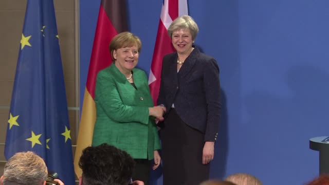 At a joint press conference with British Prime Minister Theresa May German Chancellor Angela Merkel said she's curious how Britain envisages this...