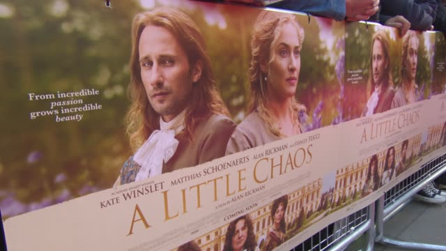 atmosphere at 'a little chaos' premiere at odeon kensington on april 13 2015 in london england - odeon cinemas stock videos & royalty-free footage