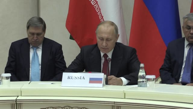 At a meeting on the Syrian civil war with the presidents of Iran and Turkey Russian President Vladimir Putin says that thanks to the efforts of...