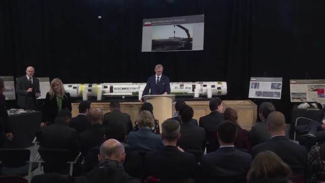 At a presentation in a military facility in Washington DC the United States presents military equipment that officials say provides new proof Iran is...