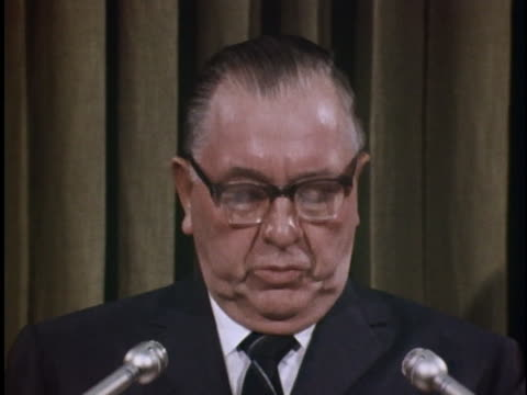 at a press conference, chicago mayor richard j. daley continues a statement he attempted to make at the 1968 democratic national convention, before... - united states and (politics or government) stock videos & royalty-free footage