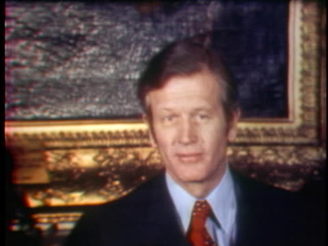 at a press conference, new york city mayor john lindsay says he will not seek a third term but pledges to continue working for urban priorities. - anno 1973 video stock e b–roll