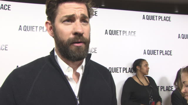 clean at 'a quiet place' vip fan screening at curzon soho on april 05 2018 in london england - john krasinski stock videos & royalty-free footage
