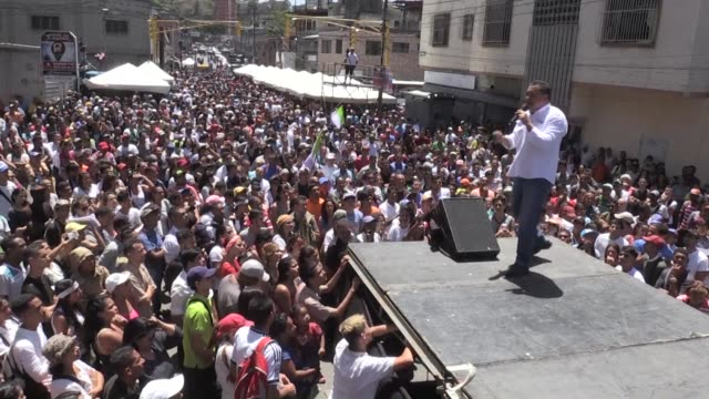 at a rally offering free soup and haircuts former venezuelan evangelist pastor and opposition candidate javier bertucci promises to re establish... - pastor stock videos & royalty-free footage