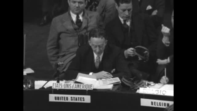 at a session of the un general assembly us ambassador to the un dr philip jessup reads statement - 1948 stock-videos und b-roll-filmmaterial