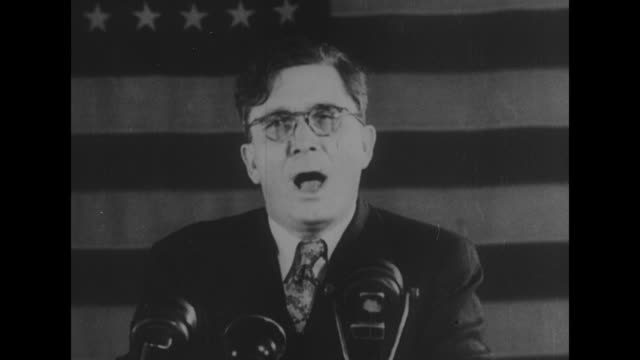 At a speech at the New York Herald Tribune Forum in New York City SOT Wendell Willkie [re continuance of international accord stemming from the...