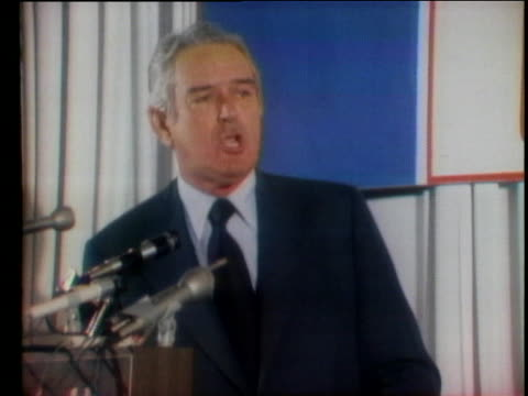 at a speech to the republican women's conference john connally says the republican party will come out of this political year more strong than it has... - john connally stock videos & royalty-free footage