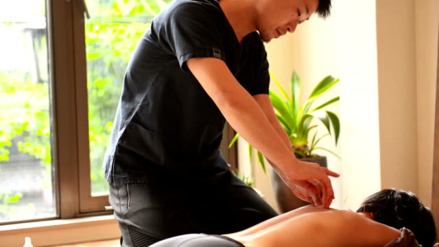 at acupuncture doctor - acupuncture stock videos and b-roll footage