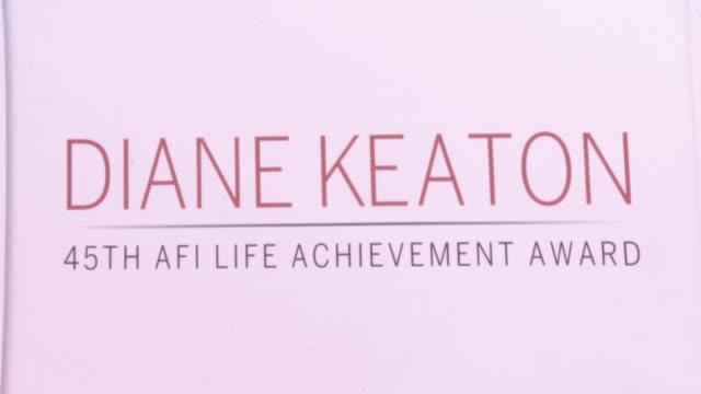 atmosphere at afi life achievement award gala tribute to diane keaton in los angeles ca - diane keaton stock videos & royalty-free footage