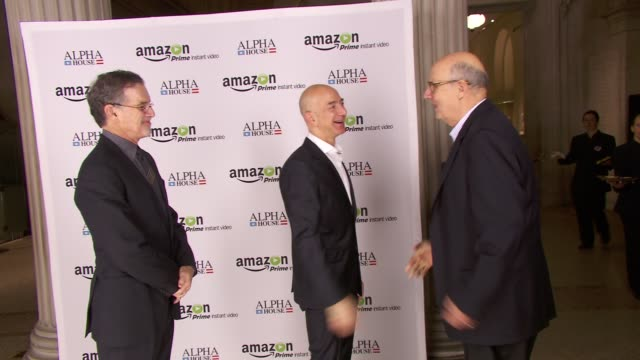 """at amazon studios premiere screening for """"alpha house"""" event at the metropolitan museum of art on 11/11/13 in new york, ny. - jeffrey tambor stock videos & royalty-free footage"""