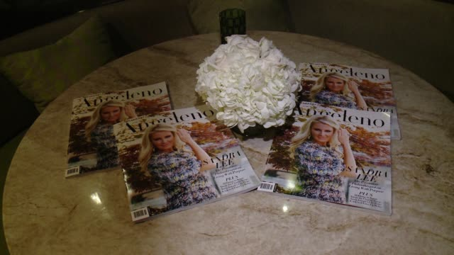 vídeos de stock, filmes e b-roll de atmosphere at angeleno magazine celebrates its philanthropy issue with sandra lee and bbva compass at culina at the four seasons hotel in los angeles... - compasso