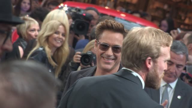 CLEAN at 'Avengers The Age of Ultron' Premiere at Westfield on April 21 2015 in London England