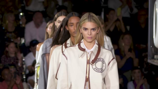 runway at burberry lfw september 2019 on september 16 2019 in london england - runway stock videos & royalty-free footage