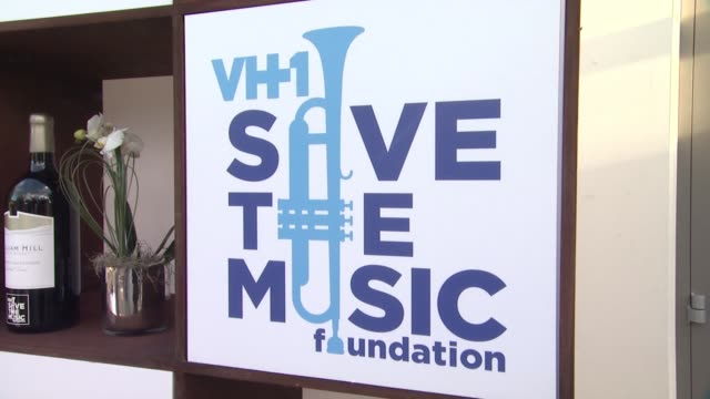 signage at bush headlines vh1 save the music foundation 2014 noteworthy concert at william hill estate winery on september 18 2014 in napa california - vh1 stock videos & royalty-free footage