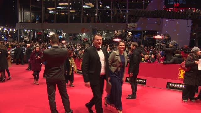 at 'cinderella' red carpet - 65th berlin film festival at berlinale palace on february 13, 2015 in berlin, germany. - シンデレラ点の映像素材/bロール