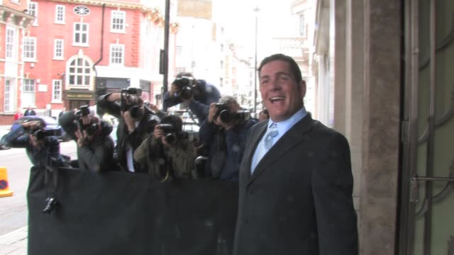 at claridges hotel, london on 16th may 2010 at the celebrity sightings in london at london england. - dale winton stock-videos und b-roll-filmmaterial