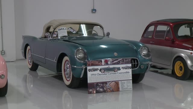 wgn at collectors car garage on may 1 2016 - classic car stock videos and b-roll footage